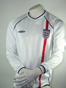 Preview: England Jersey Umbro Size Large white longsleeve