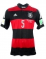 Preview: Adidas Germany jersey 5 Mats Hummels World Cup 2014 away patches men's S or L