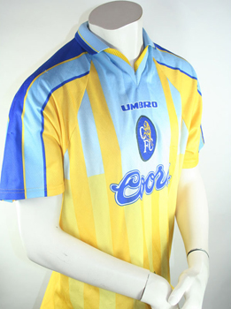 size 40 f873d 69b4b Umbro FC Chelsea jersey 1996/98 Coors Away yellow men's S/M/L/XL/XXL