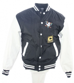 Urban Classics Anaheim Mighty Ducks college jacket Walt Disney NHL black New men's L