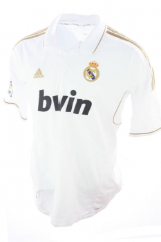 low priced 94c9e fe85c Adidas Real Madrid jersey 9 Karim Benzema 2011/12 Bwin white men's XL