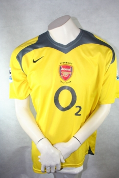 Nike Arsenal London jersey 9 Reyes 2005/06 CL final away yellow o2 men's L