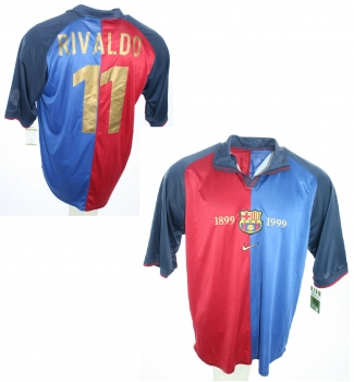new styles aec8c e0377 Nike FC Barcelona jersey 11 Rivaldo Home 1999/2000 home Blue/Red men's M or  XL