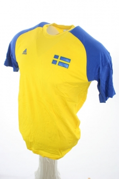 Adidas Sweden t-shirt jersey world cup home yellow new men's M