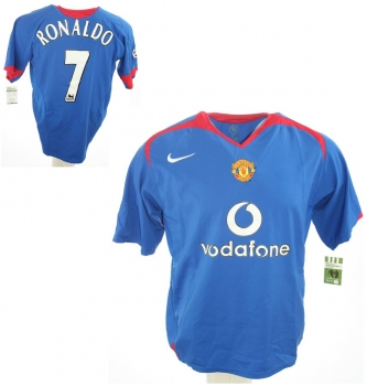 lowest price c4567 4cbad Nike Manchester United jersey 7 Cristiano Ronaldo 2004-06 Vodafone blue  men's XL