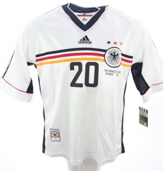 Adidas Germany jersey 20 Oliver Bierhoff World Cup 98 1998 home men's XXL