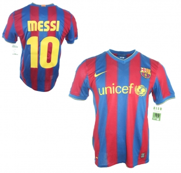 c1b5b8461 Nike FC Barcelona jersey 10 Lionel Messi 2009 10 CL winner home Unicef  men s M