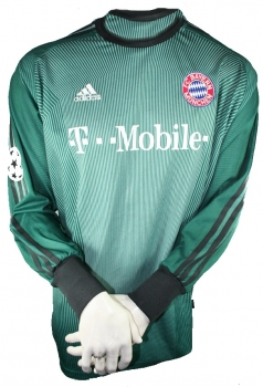 Adidas FC Bayern Munich goalkeeper jersey CL 2003/04 1 Oliver Kahn T-mobile men's M (b-stock)