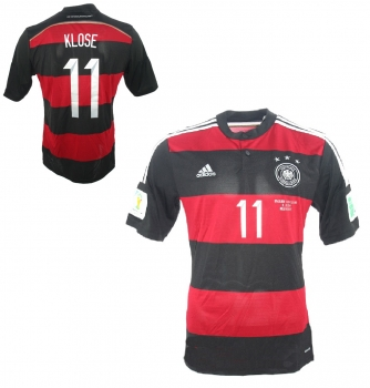 Adidas Germany jersey 11 Miroslav Klose World Cup 2014 black red away men's S, M or L
