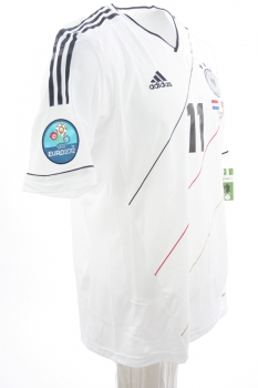 Adidas Germany jersey 11 Miroslav Klose DfB 2012 Climacool white men's M