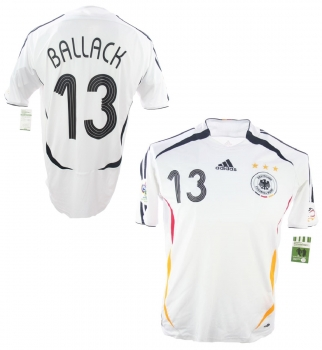 Adidas germany jersey 13 Michael Ballack World cup 2006 home men's 2XL/XXL (B-Stock)