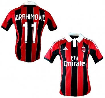 buy online f65d3 00a9f Adidas AC Milan jersey 11 Ibrahimovic 2012/13 CL home new men's S/M/L(XL/XXL