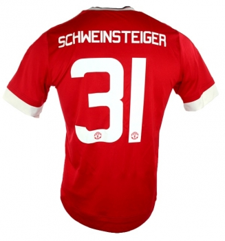 sports shoes 97924 f1ca7 Adidas Manchester United jersey 31 Bastian Schweinsteiger 2015/16 Chevrolet  CL home red men's M