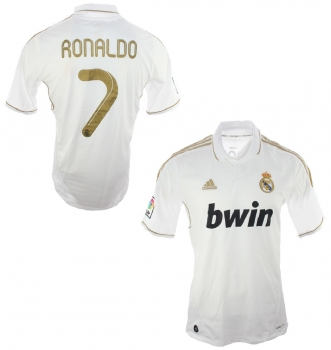 low priced c6e3d 41a78 Adidas Real Madrid jersey 7 Cristiano Ronaldo CR7 2011/12 Bwin men's L
