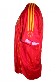 Adidas Spain jersey 8 Xavi World Cup 2006 red home men's L