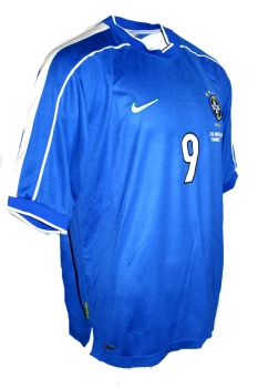 new product 02f02 287ab Nike brazil jersey 9 Ronaldo el fenomene World cup 1998 98 away men's  S/M/L/XL/XXL/2XL