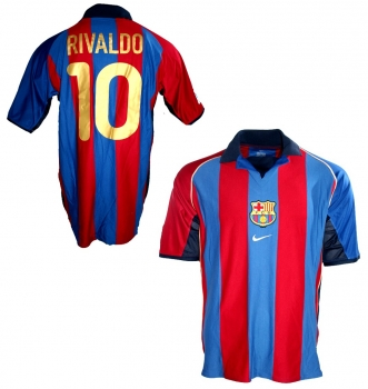 new styles 3a4be 9902f Nike FC Barcelona jersey 10 Rivaldo 2001/02 home men's L or XL