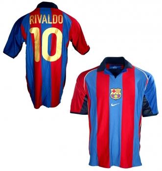 new styles f8ca2 4621b Nike FC Barcelona jersey 10 Rivaldo 2001/02 home men's L or XL