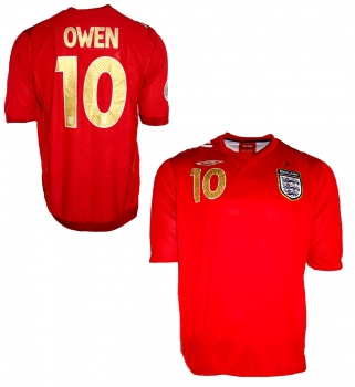 Umbro England jersey 10 Michael Owen World Cup 2006 away red men's XL or 2XL/XXL