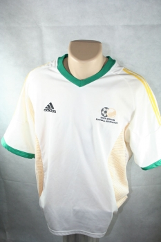 Adidas South africa jersey World Cup 2002 home jersey in color white men's L