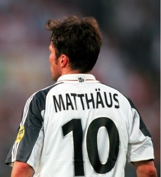 Adidas Germany jersey 10 Lothar Matthäus Euro 2000 home DFB white men's 176cm/S/M or XL
