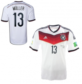 Adidas Germany Jersey 13 Thomas Müller World Cup 2014 home new White men's L(B-Stock)