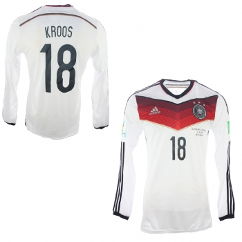 new product aab30 ee469 Adidas Germany Jersey 18 Toni Kroos World Cup WC 2014 Adizero men's L(8)