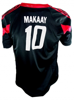 Adidas FC Bayern Munich jersey 10 Makaay 2004/05 CL T-mobile black men's 176/S-M or XL