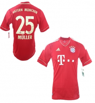 new product 37206 222bb Adidas FC Bayern Munich jersey 25 Thomas Müller 2012/13 Home triple men's  L(B-Stock)