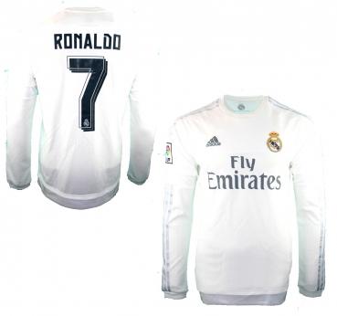 3586f64b7 Adidas Real Madrid jersey 7 Ronaldo 2015 16 Emirates home match worn men s M