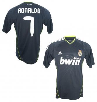 ff4027442 Adidas Real Madrid jersey 7 Cristiano Ronaldo 2010 11 Bwin away men s lage L