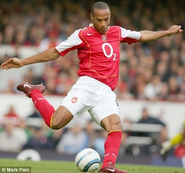 huge selection of 8406f 6583c Nike FC Arsenal London jersey 14 Thierry Henry 2004/05 shirt o2 home red  men's XL