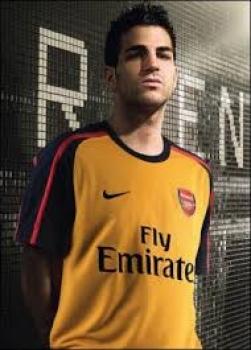 best website 0a50c 0cce9 Nike FC Arsenal London jersey 4 Cesc Fabregas 2009/10 Fly Emirates away  men's XL