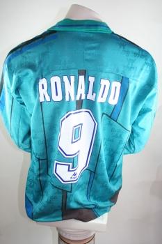 Kappa FC Barcelona jersey 9 Ronaldo Matchworn 1996 97 away men