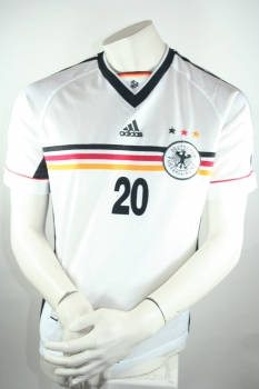 Adidas Germany jersey 20 Oliver Bierhoff home World Cup 1998 White men's S-M