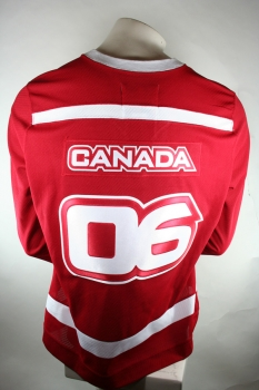 "HBC Canada Hockey jersey ""Torino 2006"" Olympic games red home men's XL"