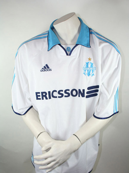 Adidas Olympique Marseille jersey 1999/00 Ericsson home white men's XXL/2XL