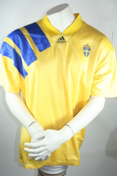 Adidas Sweden jersey 1992 92 9 Larsson/Thern home men's XL