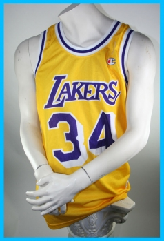 size 40 e4640 5cea0 Champion L.A. Lakers jersey 34 Shaq O'Neal Los Angelas Yellow NBA men's M  or L