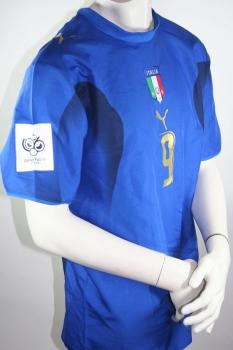 b0cfb1d4251 Puma Italy jersey 9 Luca Toni World Cup 2006 Champion home shirt men s XL