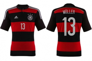 Adidas Germany Jersey 13 Thomas Müller 2014 Away DFB mens S-M=176cm