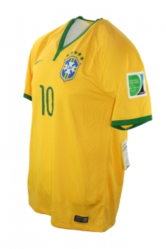 Nike Brazil Jersey 11 Neymar World Cup 2014 home yellow men's L (b-stock)
