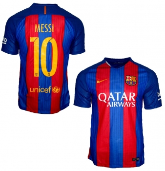Nike FC Barcelona jersey 10 Lionel Messi 2016/17 Qatar home new men's S, L or XL