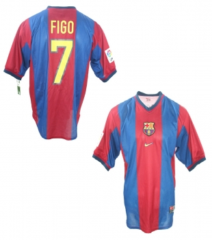 Nike FC Barcelona jersey 7 Luis Figo 1998/99 home men's XL