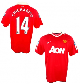 c90bf6b08 Nike Manchester United jersey 14 Chicharito Javier Hernandez 2010/11 A-on  home men's