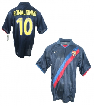 Nike FC Barcelona jersey 10 Ronaldinho 2003/04 away men's XL