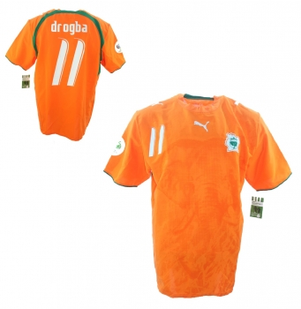 b2af1ff23a2 Puma Ivory Coast jersey 11 Didier Drogba World cup 2006 home home men s XL