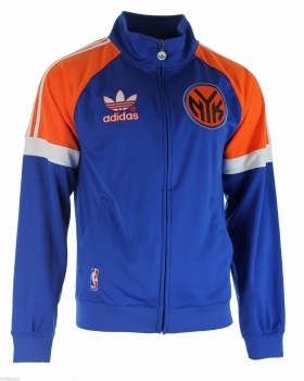 Adidas New York Knicks jacket tracksuit jersey NBA blue basketball home men's M
