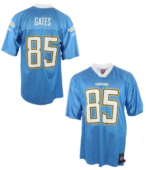 Reebok San Diego Chargers jersey 45 Antonio Gates NFL blue new men's L