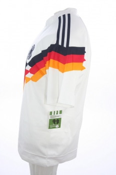 Adidas Germany jersey 3 Andras Brehme 1990 DfB home white men's S/M/L